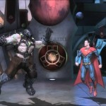 Bane breaks Superman's back. Injustice.