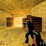 A surprise around the corner in Counter Strike.