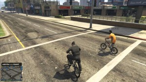 Going Bike Riding With A Stranger In GTA Online.
