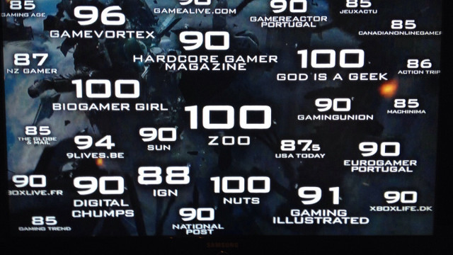 This is sad. CoD Ghosts shows off high ratings from who?