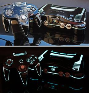Tron Themed Nintendo 64