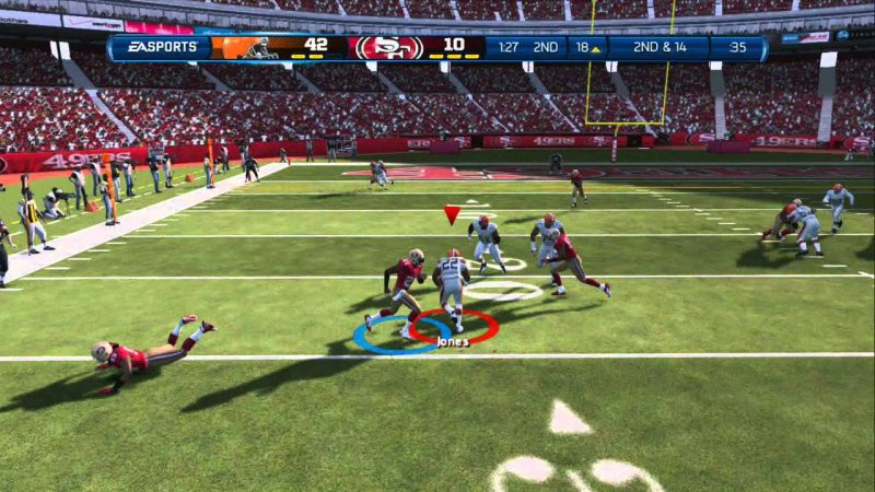 Circus Rushing Touchdown. Madden 13.