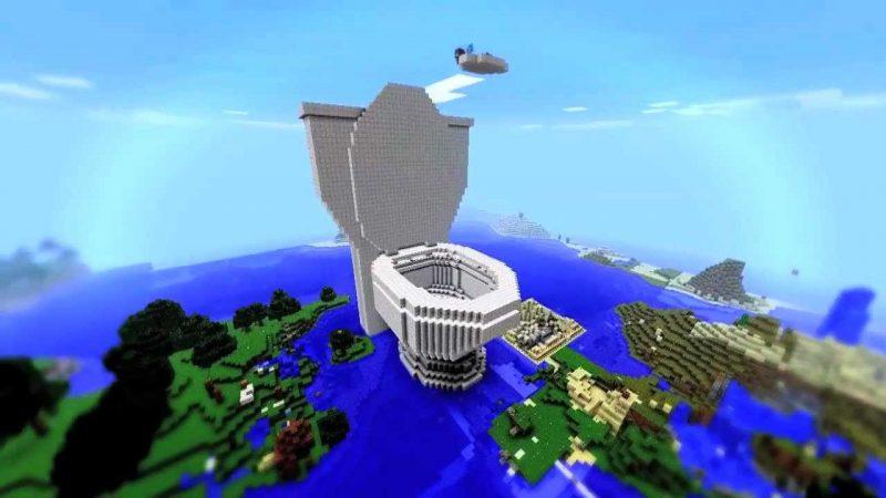 Giant Toilet in Minecraft!