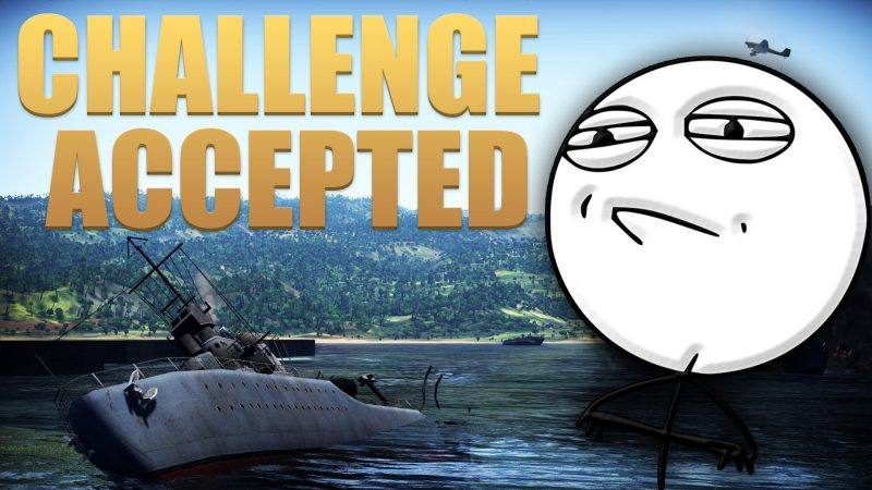 Landing a Bomber on and Aircraft Carrier in War Thunder.