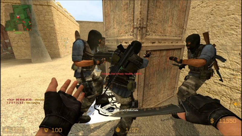 Don't stab the box. Counter Strike.