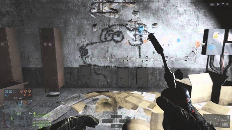 Doing Graffiti in BF4. (Repair Torch art) Xbox One.
