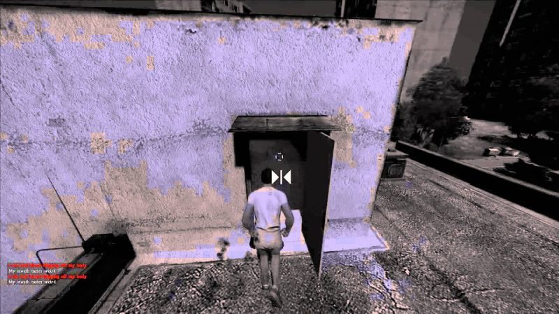 Drinking disinfectant spray in DayZ standalone.