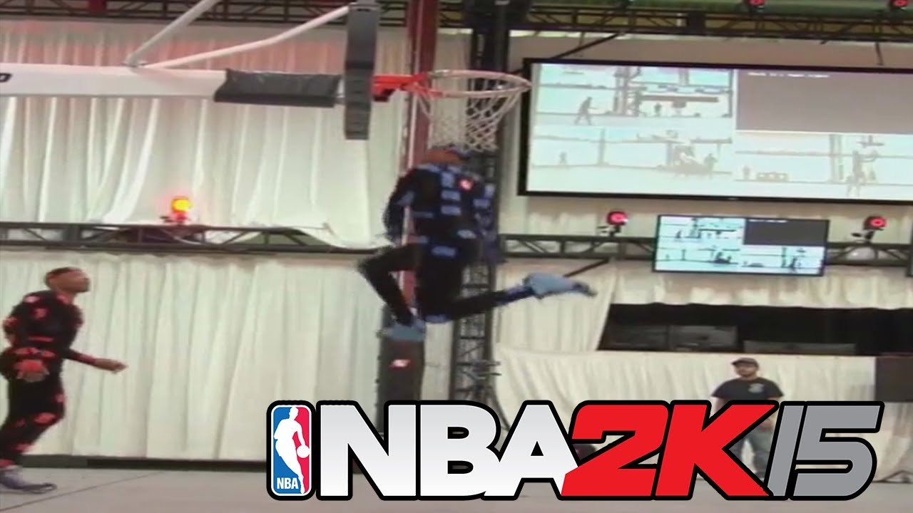 Raw Footage Of Dunking Motion Capture For NBA 2K15