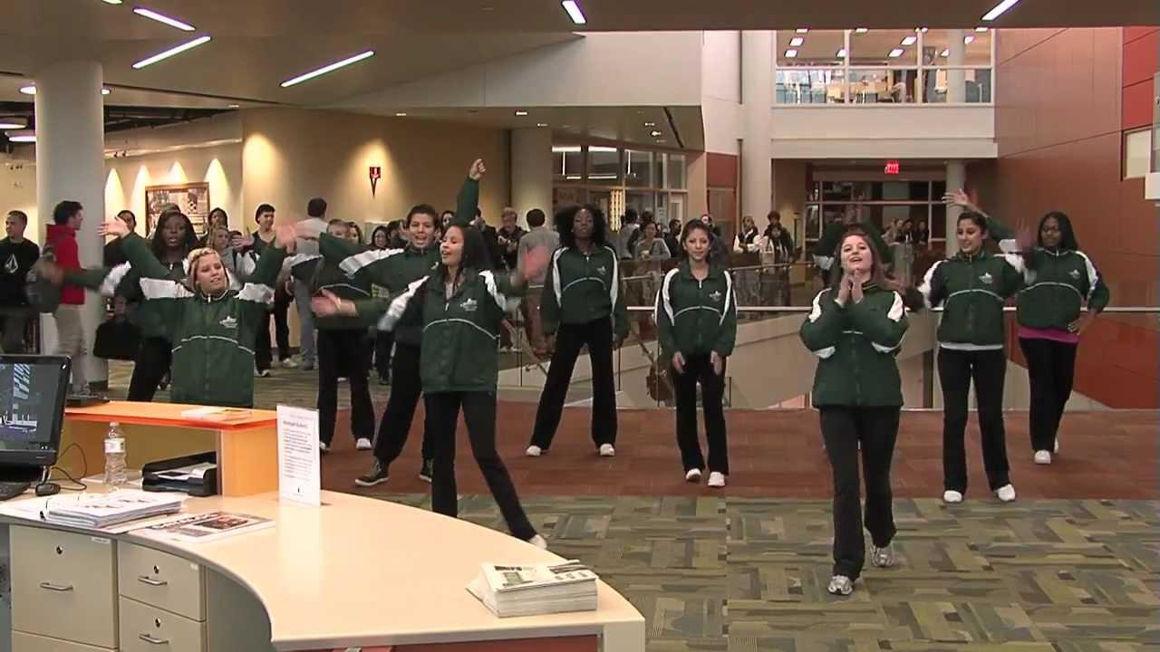 Super Awkward Gentleman Crashes College Flashmob